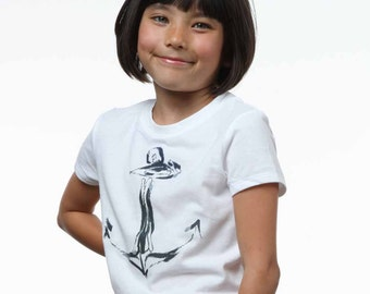 Anchors Away Graphics for Kids & Teens - for Iron on use on T-shirts, bags, etc.
