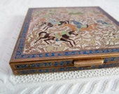 Volupte Compact Brass with Enamel Detail Ornate Persian Middle Eastern Style
