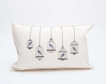 SALE bird cage pillow