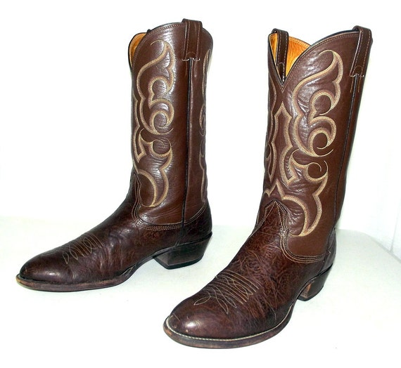 nocona cowboy boots brown size 10 5 d or size 12