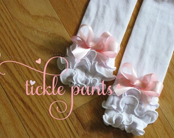 RUFFLED Leg warmers to match all Tickle Pants Birthday Tutu Collections-  Fits infants and school-age girls