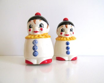 Goebel Salt and Pepper Shakers Vintage Clowns West Germany