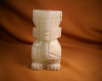 ONXY STATUE of AZTEC Image, Aztec reproduction, Mexican Statue of Onyx,Onyx Statue,Onyx Figurine from Mexico, Onyx Sculpture from Mxico