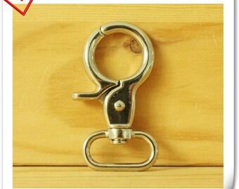 6.5cm x 3.2cm (2.5 inch x 1.25 inch)  Heavy duty Nickel  purse hook lobster Claw Hooks Straps hooks  6 pieces P30