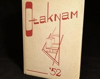 "Vintage 1952 ""Otaknam"" Yearbook, Mankato, MN"