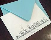 Manhattan Skyline - personalized noteflat cards