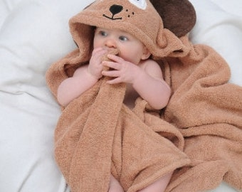 Yikes Twins BABY Dog hooded towel
