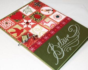 Handmade Christmas Card, Blank Card, Christmas, Red, Green, Inchie, OOAK (Believe) - Snowflake, Bird, Angel, Pine Cones, Wish, Deer