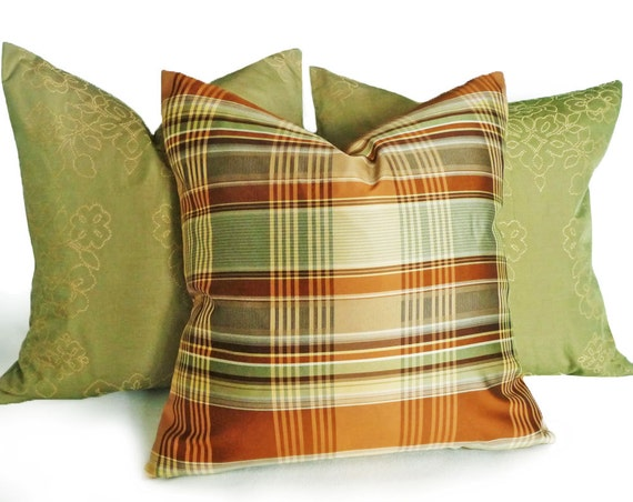 PILLOW SALE Modern Plaid Pillows Contemporary by PillowThrowDecor