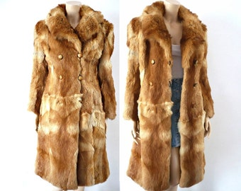 RENARD FRench Vintage Fox Fur Double Breasted Coat