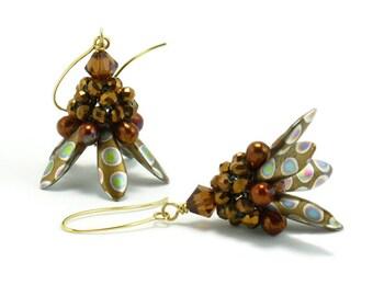 Earring Bead Kit, Browns