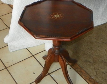 Rosewood Inlaid Side Table/ End Table