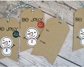 Be Jolly Christmas Snowman : Very Merry Gift Tags - Set of 8