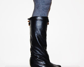 Vintage Boots All Leather Versatile 80s