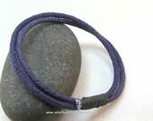 navy two loop cotton cord bracelet rope bracelet string bracelet nautical bracelet 3171