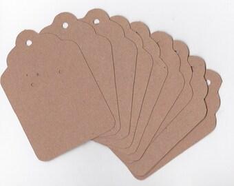 Tags | Scalloped Kraft Jewelry Tags | Kraft Earring Tags |  Large Kraft Tags | Craft Show |