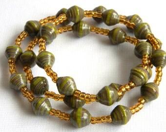 Paper Bead Jewelry - Necklace - #RA118