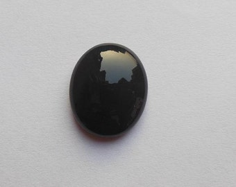 Black onyx cabochon - oval cabochon - gemstone cabochon - oval black onyx - supplies
