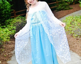 Elsa dress inspired girls dress frozen  size 1-2  and 2-3  Girls Great photo Prop Reg. 39.00 SALE 10.99