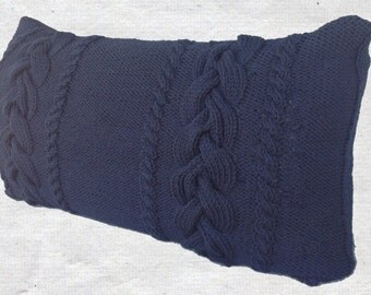 New - King Sized Braided Cable Knit Pillow Shams