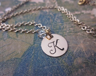 The Marie Necklace - Gold Filled Custom Initial Necklace - 14 Karat