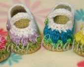 PDF CROCHET PATTERN Baby Tulip Mary Jane Shoes sizes 0 to 9  months Digital