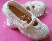 CROCHET PATTERN, Mary Jane Slippers, Adult, Teen, Star Stitch, Slippers, Shoes, Ladies, Women, girls, skill level intermediate