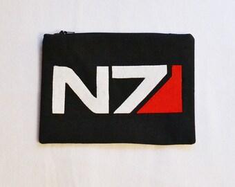 Mass Effect N7 Logo Zipper Pouch/Pencil Case