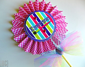 Art Party Centerpiece Pinwheel...Set of 1 Pinwheel