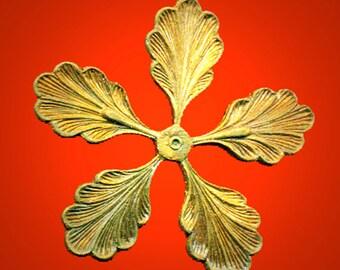 Vintage 5 Victorian Flower Casted Brass 29mm AL2
