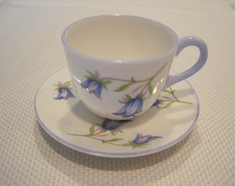 Vintage Shelley Miniature Harebel Cup And Saucer