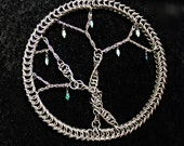 Tree of Life  Chainmail Pagan Dream Catcher Ornament Stainless Steel