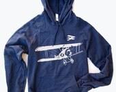 Unisex - Vintage PLANES - Flex Fleece Pullover Classic Hoody Sweatshirt  - American apparel (3 Color Options)