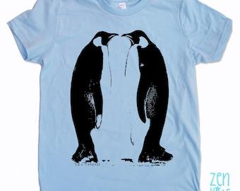 Kids PENGUINS Tee Shirt - American Apparel Sizes 2 4 6 8 10 12 - FREE Shipping