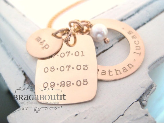 brag about it personalized hand stamped jewelry personalized