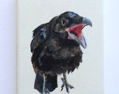 The Voluble Crow - Original Small Painting