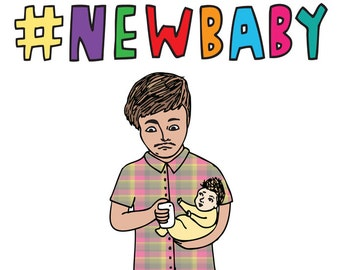 Baby Card - Hashtag New Baby
