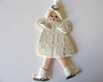 Ice Skating Angel Ornament