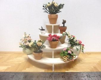 Miniature Half Round Tiered Plant Stand