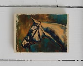 Coppered Grey 5x7 image transfer print on wood block