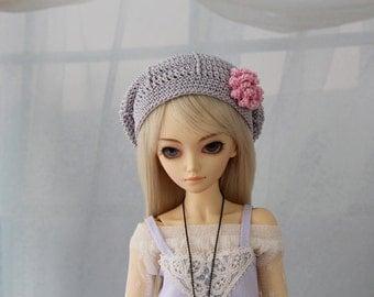 Grey Crochet Hat for MSD BJD, Minifee, MNF -New Style-