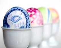 Easter Egg Craft Kit, Silk Dye DIY, Dye real eggs using gorgeous silk scarves and ties.