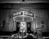 Cliff Bells Detroit Black and White Fine Art Photograph on Metallic Paper