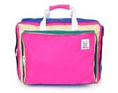 Pink/Teal Bedford Bag 3 way Backpack, Over-the-shoulder, Tote