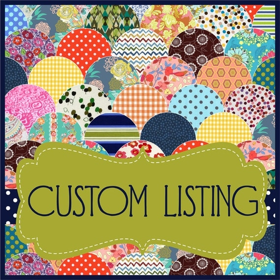 RESERVED Custom Listing for -- Lucky Lizzys -- Only