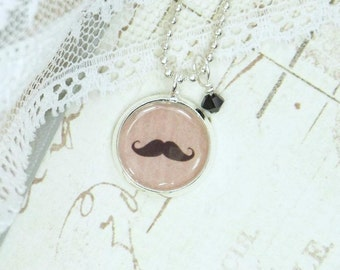 Handlebar Mustache Necklace Moustache Jewelry Layering Necklace Mustache Jewelry Dainty Necklace