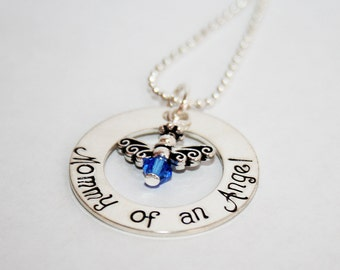Mommy of an Angel Remembrance Necklace