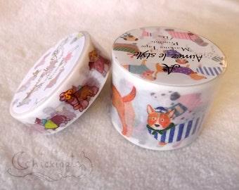 Aimez le Style Washi Masking Tape - Dogs - 2 widths