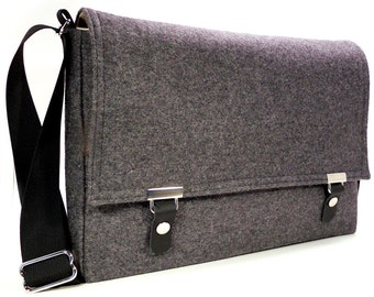 "11"" / 13"" MacBook Air messenger bag - gray wool"