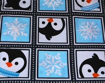 Fat Quarter Cute Penguin Patchwork Fabric